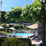 Zimmerausblick & Poolbereich