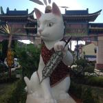 One of several Kuching CAT statues --prepared for GAWAI holidays