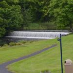 Waterfalls on the property.