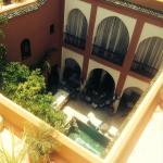 View from the terrace looking down into the Riad