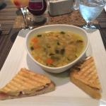 Chicken Soup and Sandwich