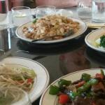 Main couse of dishes for a Ming Banquet and party of 10 at £21.50 each