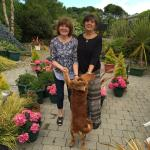 Estelle and Freddy in her garden
