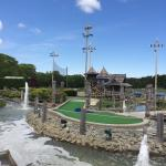 The mini golf course was clean, well maintained, quite challenging, and lots of fun....!!!