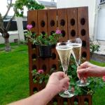 Champagne in the garden (Marie's glasses)