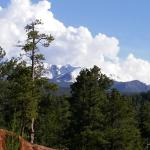Beautiful view of Pike's Peak off the back deck of the Country Lodge