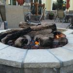 Fire Pit on back deck of the Country Lodge