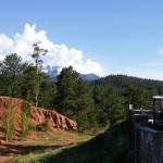 Off the back deck of the Country Lodge looking at Pike's Peak