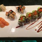 Delicious Dragon Roll, Unagi, and Salmon