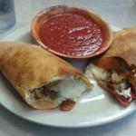 Calzone with Pepperoni and Mushrooms