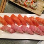 Salmon and fatty tuna