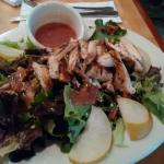 Citrus Chicken Salad with the House Vinaigrette...lots of citrus marinated chicken