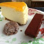 Lilikoi cheesecake, kohala crunch, and chocolate truffle cookie