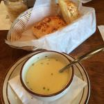 The chicken & rice soup is always a great starter with every meal.
