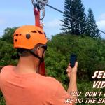 selfie time!! you can take pics and do videos while ziplining