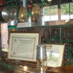 One of the museum cabinets