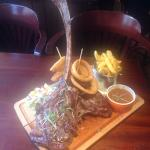 Our Tomahawk rib- eye 30- 35 oz.
