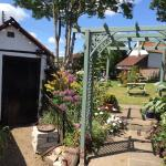 The pub and beer garden in full bloom