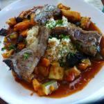 Lamb and couscous (menu du jour main)
