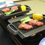 とても柔らかく美味しいお肉でした。 翌朝までお部屋は焼き肉の匂いが残りますが…