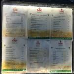 Les cartes menu à l'entrée