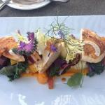 Organic chicken with potato puree and carrots