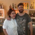 Stelios the best cocktail barman on island and the lovely Chrysi
