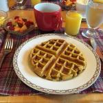 Just one of the wonderful breakfasts we enjoyed!