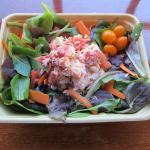 Island Farm Salad with poached lobster