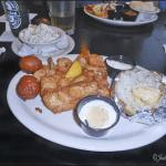 Seafood combo.. Grouper and shrimpf