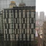Blick auf das gegenüberliegende Gebäude