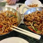 Spicy Shanghai Noodles, Ginger Beef