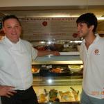 Chef Michael Chandler and Christian Bordoli