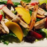 Stone Fruit & Chicken Salad: Wawona Stone Fruit,Goat Cheese,Nuts & Vanilla Poppy Seed Dressing