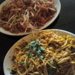 pad thai and chiang mai noodles