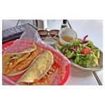 Memphis and fish taco with side salad