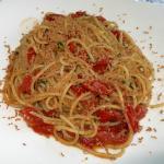 Spaghetti Alghero mit Thun-Bröseln und Kapern Fr. 29.-