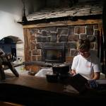 Pizza oven and the pizza lady