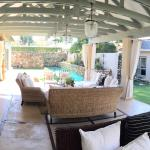 panoramic view of patio/garden