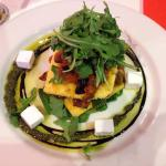Vegetable polenta stack