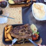 The best steaks,garlic bread,half bottle of wine 37TL approx £9 at todays rate