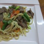 Fried Udon with Beef