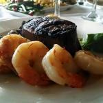8 oz filet with shrimp upgrade