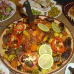the mansaf-like dish we have savoured at tzokim restaurant.