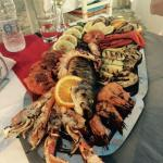 Great grilled mixed fish with friendly service