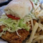 Pork  Fritter sandwich