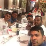 With the lads experiencing a good curry house at Lusan Indian restaurant