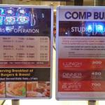 Buffet hours and points needed for free buffet