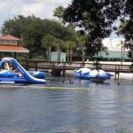 aqua park at lake