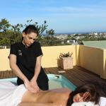 Pamper packages spa treatments on pool deck